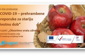 On-line predavanje o prehrani za vrijeme pandemije 2